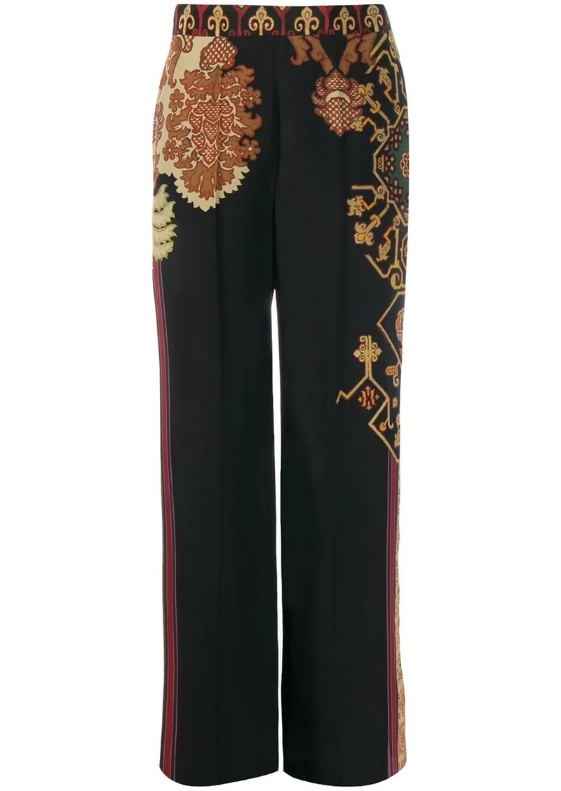 Etro printed wide-leg trousers