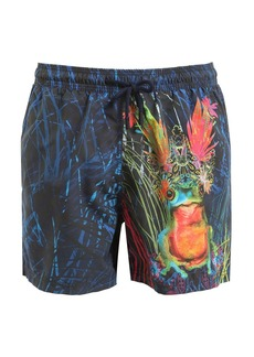 Etro Psychedelic Frog Printed Swim Shorts