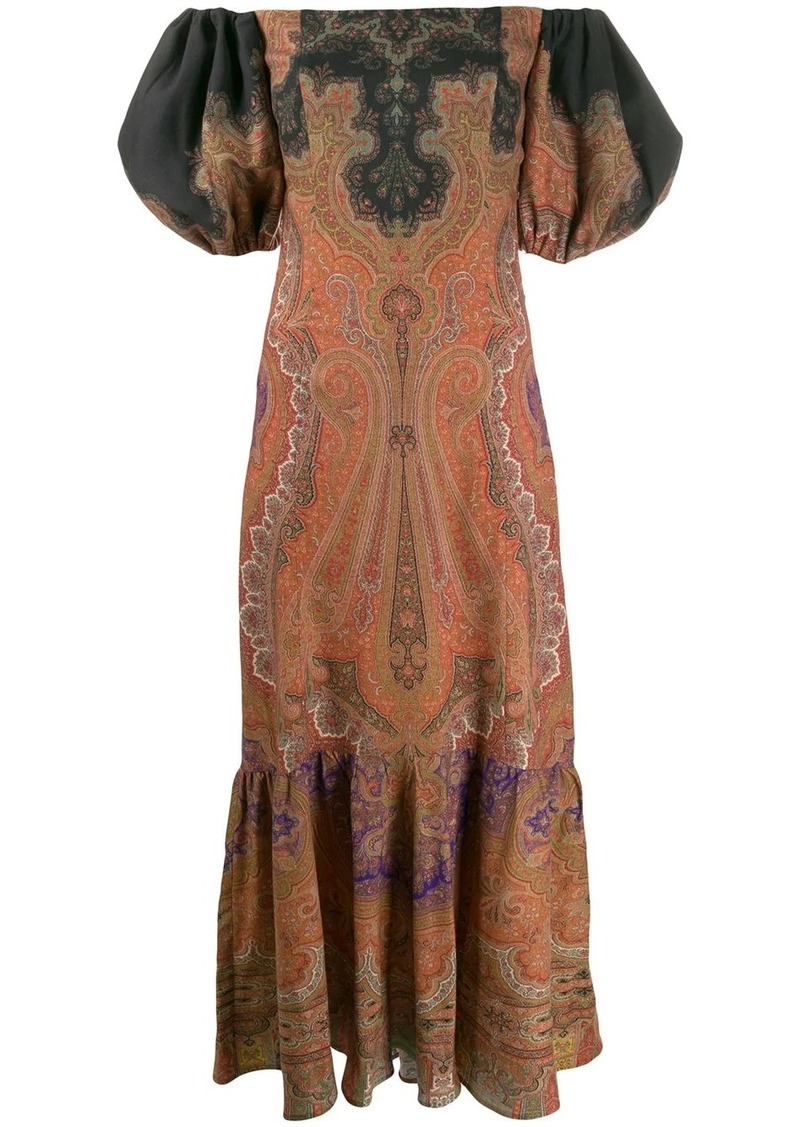 Etro puff sleeve dress