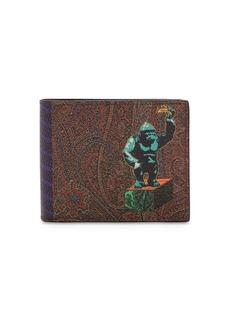 Etro Pvc Paisley & King Kong Printed Wallet