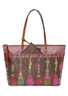 Etro Pvc Printed Shopping Bag