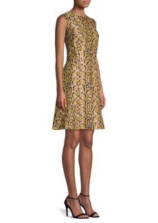 Etro Python Print Sheath Dress