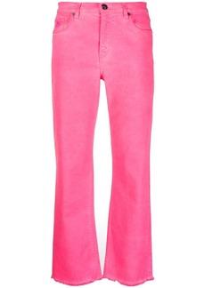 Etro raw-cut edge straight-leg jeans