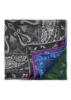 Etro Reversible Silk Pocket Square