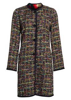 Etro Reversible Tweed & Matelassé Floral Jacket