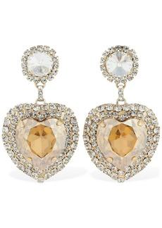 Etro Rhinestone Heart Clip-on Earrings