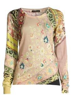 Etro Ribbon Floral Animal Sweater