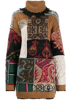 Etro roll-neck pattern mix sweater