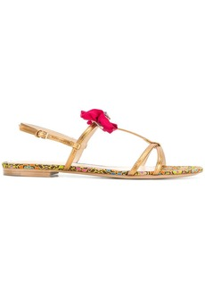 Etro ruched detail flat sandals