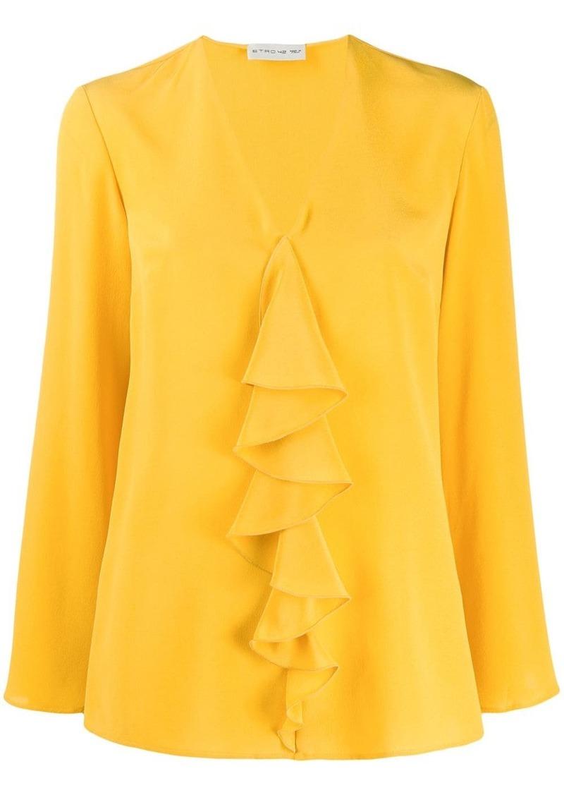 Etro ruffle long sleeve blouse