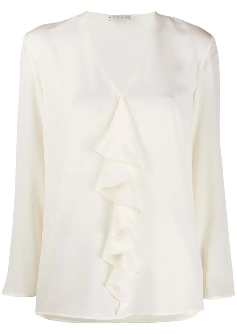 Etro ruffle long-sleeve blouse