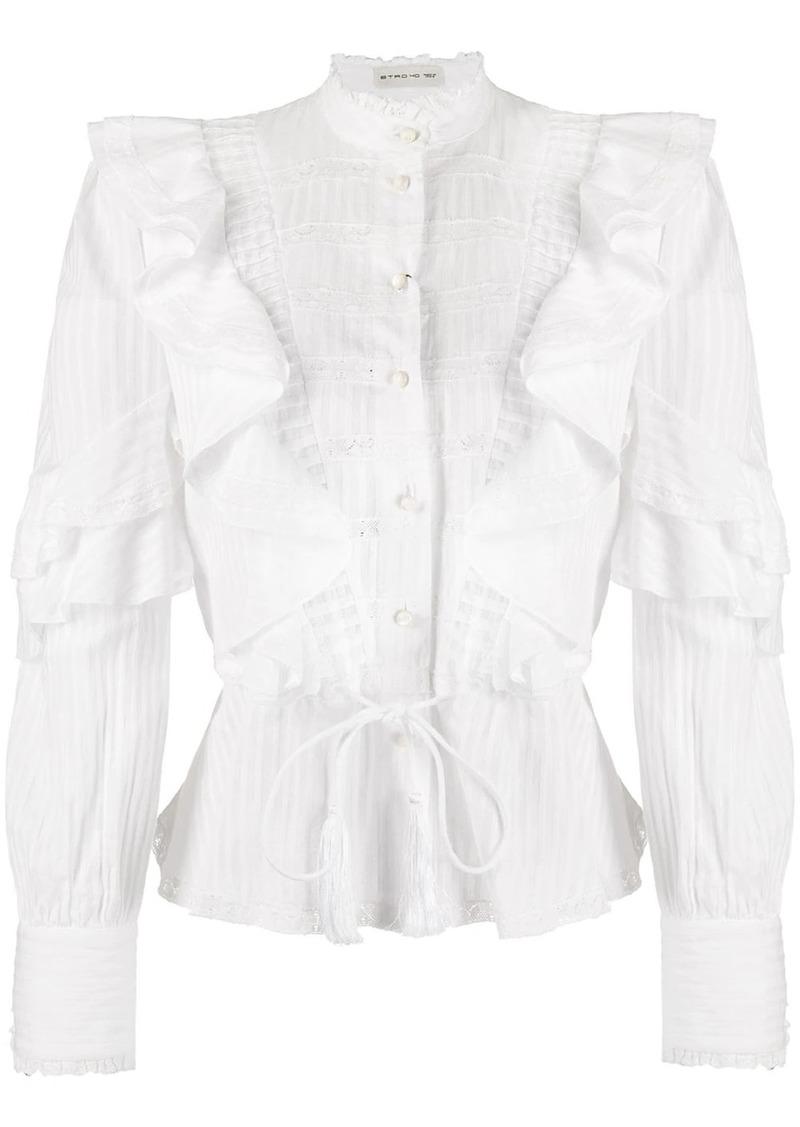 Etro ruffled design blouse
