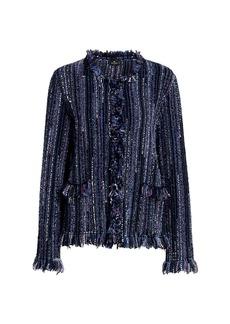 Etro Salina Textured Fringe Knit Jacket
