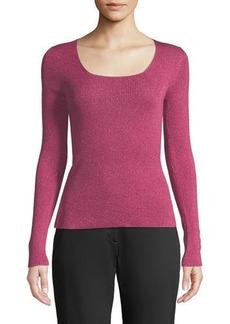 Etro Scoop-Neck Shimmer Sweater