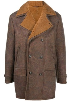 Etro shearling double-breasted coat