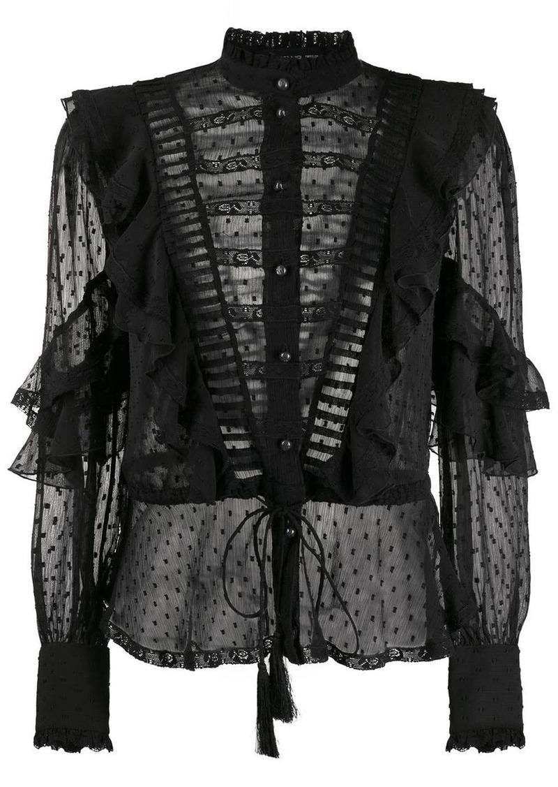 Etro sheer ruffled blouse