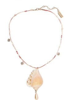 Etro Shell, Faux Pearl And Crystal Necklace