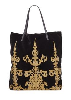 Etro Shopping Embroidered Pochette Tote Bag