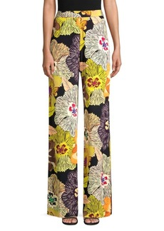 Etro Silk Floral Palazzo Pants
