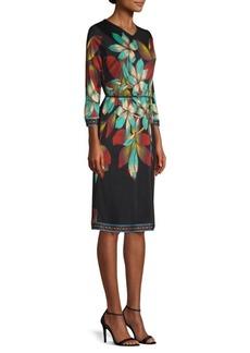 Etro Silk Floral Tie Dress