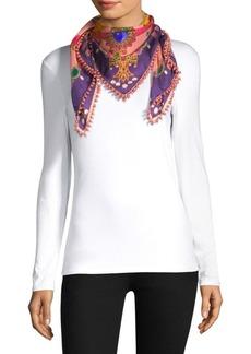 Etro Silk Foulard Scarf With Pearls