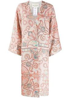 Etro silk paisley print overcoat