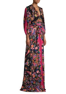 Etro Silk Paisley Sequined Gown