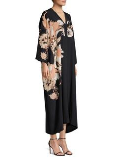 Etro Silk Poppy Kaftan Dress