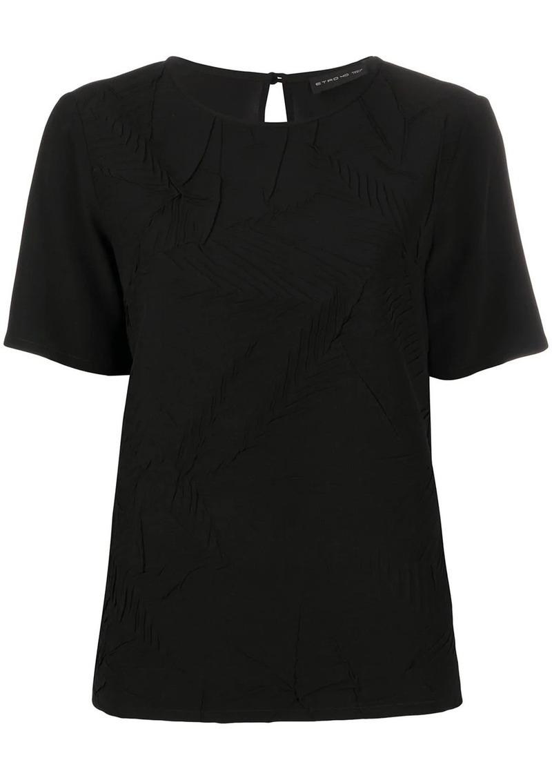 Etro silk short sleeve top