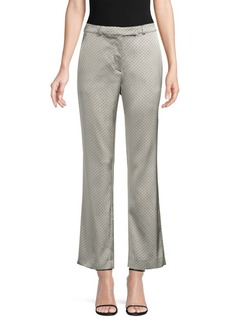 Etro Silver Tie Ankle Trousers