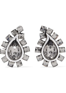 Etro Silver-tone Crystal Clip Earrings