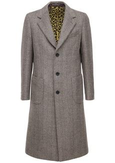 Etro Single Breast Wool Alpaca & Silk Coat