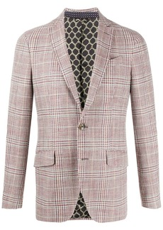 Etro single breasted check blazer