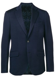 Etro single breasted slim-fit blazer