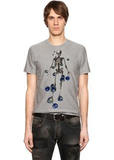 Etro Skeleton Tufted Cotton Jersey T-shirt