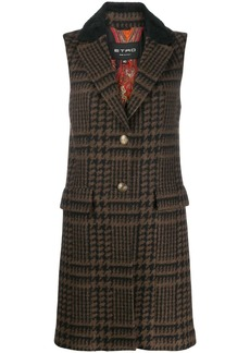 Etro sleeveless button up coat