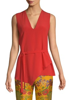 Etro Sleeveless Layered Silk Blouse