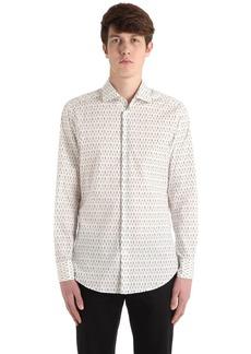 Etro Slim Aces Stretch Cotton Poplin Shirt