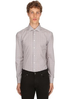 Etro Slim Fit 70's Print Stretch Cotton Shirt