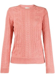Etro slim-fit cable knit jumper