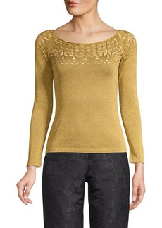 Etro Slim-Fit Lace Knit Top