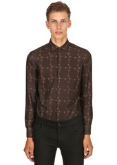 Etro Slim Fit Micro Flower Cotton Shirt