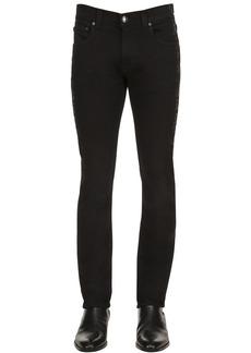 Etro Slim Fit Waxed Paisley Print Denim Jeans