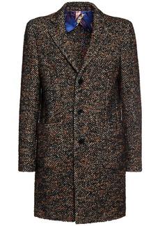 Etro Slim Wool & Mohair Blend Coat