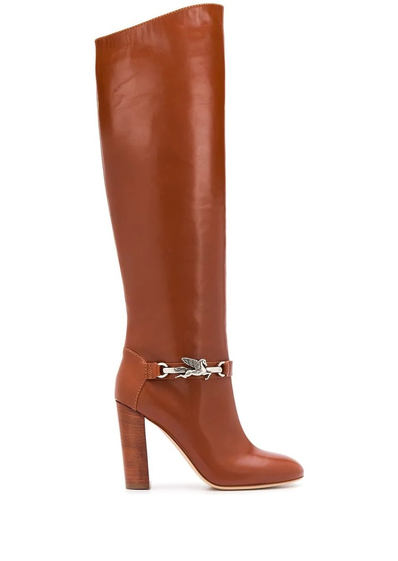Etro slip-on knee-high boots