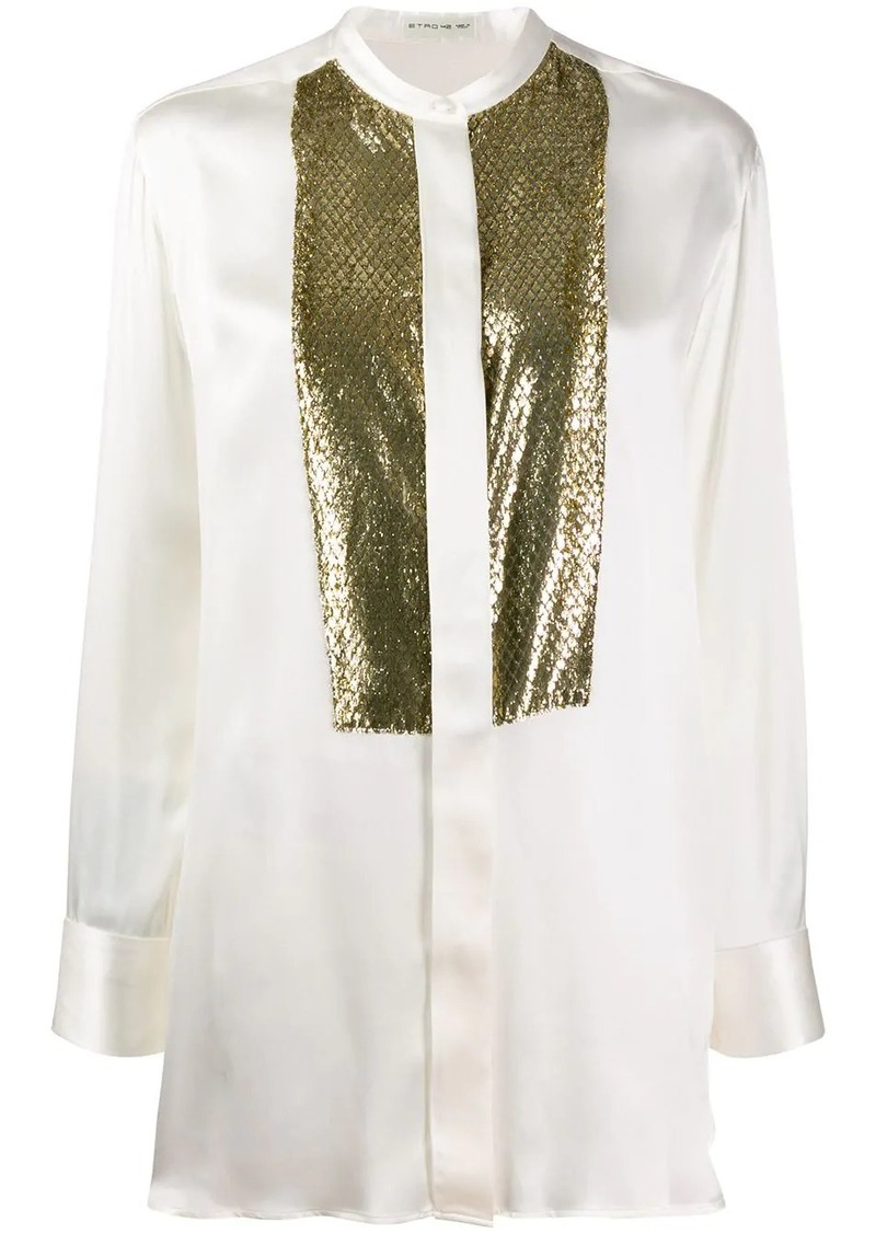 Etro snakeskin effect blouse
