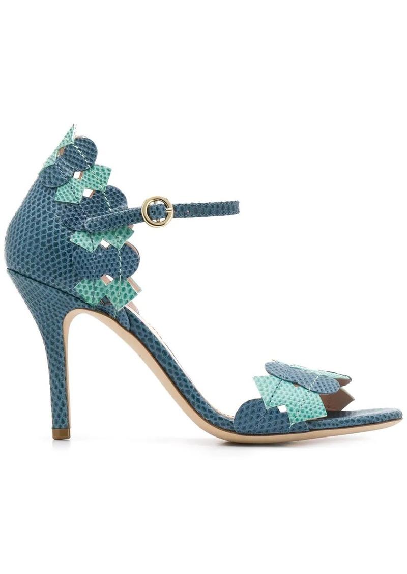 Etro snakeskin-effect heeled sandals