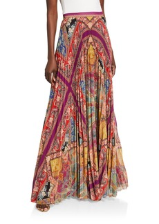 Etro Stained Glass Accordion Pleated Skirt