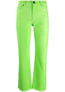 Etro stretch-cotton frayed-leg jeans