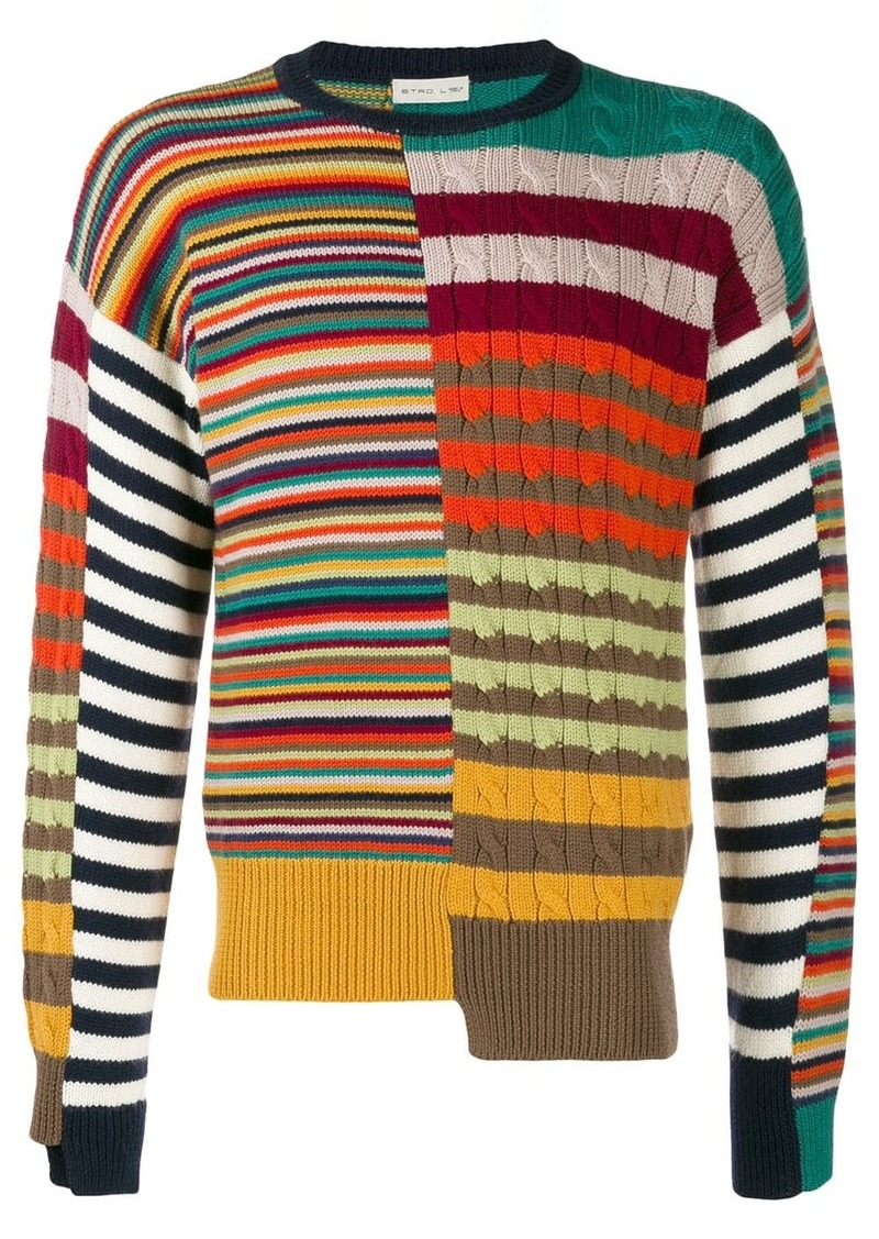 Etro striped asymmetric jumper